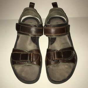 Rockport XCS Rugged Brown Leather Sandals